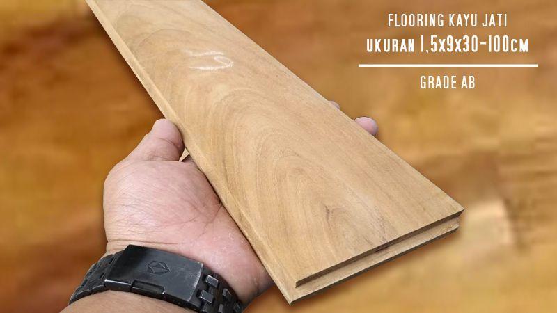 Flooring Kayu Jati Grade A