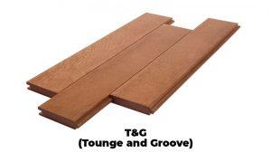 sistem t&g pada lumberceiling