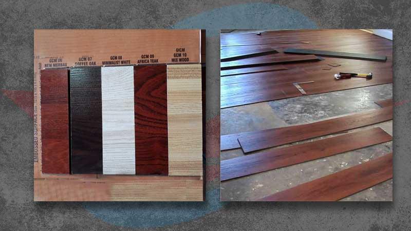 nama lantai vinyl motif kayu