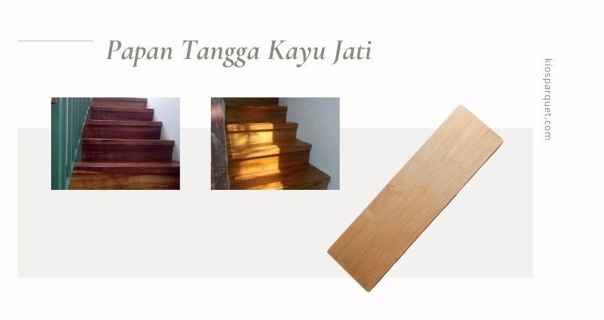 papan tangga kayu jati asli