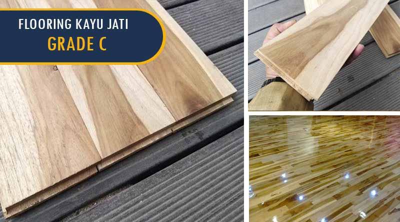 flooring kayu jati grade c 2
