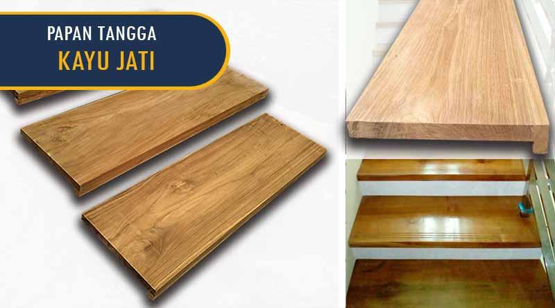 papan tangga kayu jati