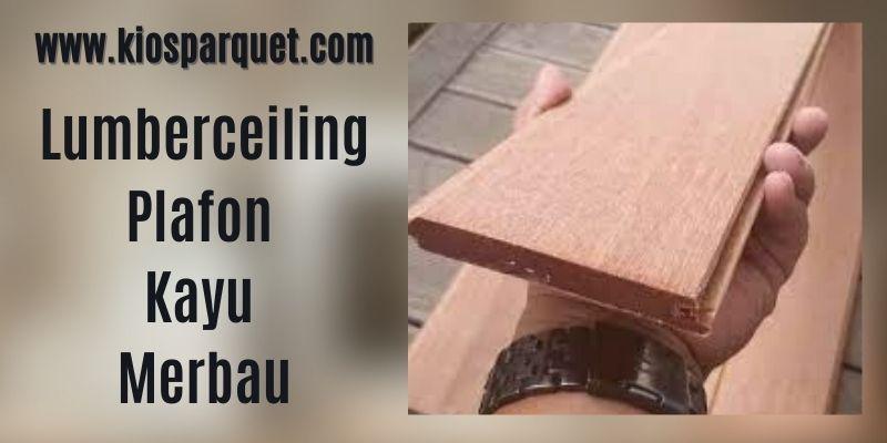 IDe Dekorasi Dinding Rumah - menggunakan lumberceiling kayu merbau