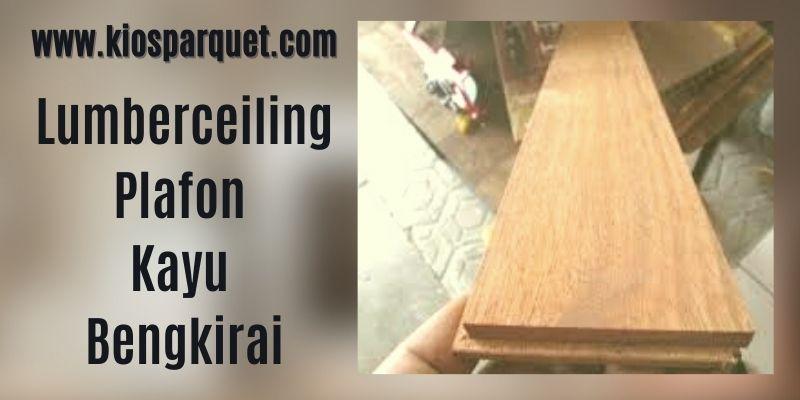 IDe Dekorasi Dinding Rumah - menggunakan lumberceiling kayu bengkirai
